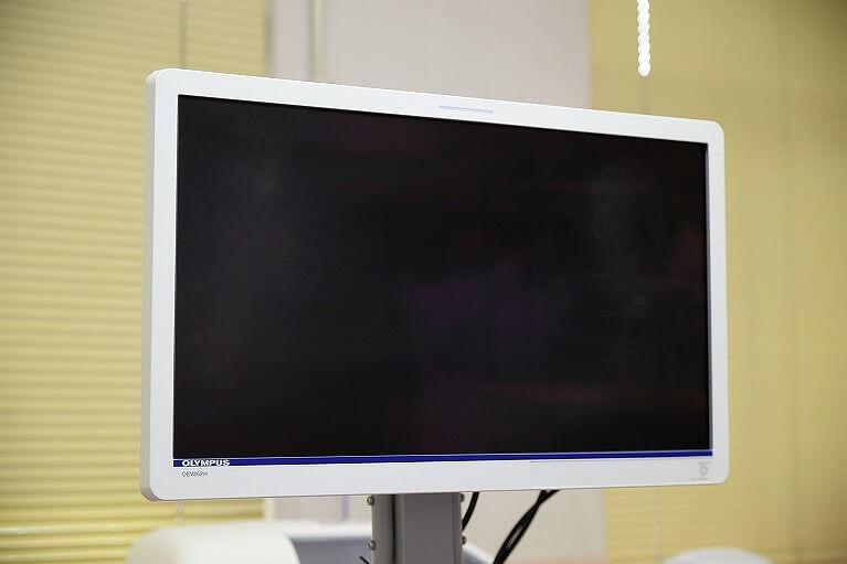 高精細な大画面ハイビジョンモニター